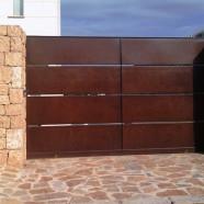 Puerta de paneles planos